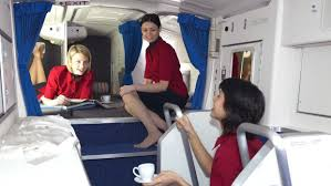 airline cabin crew tiny rest areas where airline cabin crew sleep and take breaks