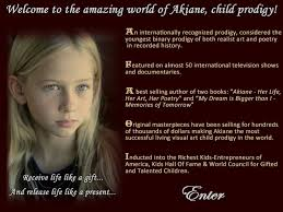 akiane what a wonderful story please read about her if you have