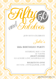 50th birthday party invitations template invitations ideas