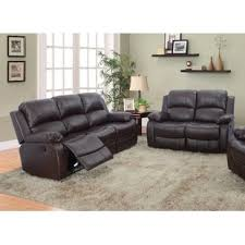 Leather Reclining Sofa Set Reclining Living Room Sets You Ll