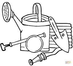 gardening tools coloring pages garden xcyyxh com
