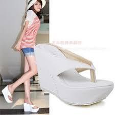 Comfortable Heels For Plus Size New Women Wedge High Heels Slipper Platform Beach Travel Sandals