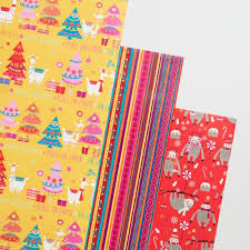 llama wrapping paper sloths and llamas wrapping paper rolls set of 3 world market