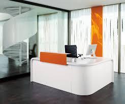 Reception Desks Ireland by Hi Line White And Orange Reception Desk Great First Impression