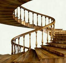 Contemporary Handrails Antique Wooden Wpiral Sstaircase Design For Amazing Home Interior