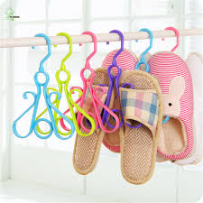 yihong colorful thickened hook portable plastic shoe drying rack