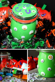 glow in the dark halloween candy mason jars