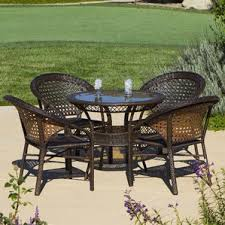 Resin Wicker Patio Dining Sets Four Person Patio Dining Sets You U0027ll Love Wayfair