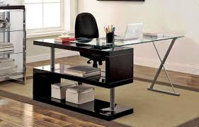 Home Office Glass Desks Office Glass Desks For Home Desk Design Modern Office Desk L