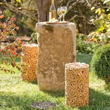 cork shaped stool made from genuine wine corks
