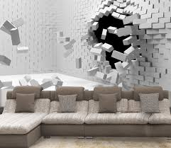 2016 new sale 3d art can be customized large scale mural