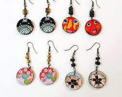 decoupage earrings decoupage earrings etsy