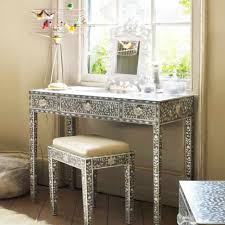 Silver Vanity Table with Furniture Simple And Neat Picture Of Furniture For Girl Bedroom