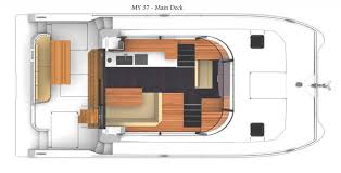Boat Floor Plans Caribbean Multihulls Fountaine Pajot Motor Yacht My37
