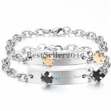 stainless steel charm bracelet chain images 15 best couple bracelet images couple bracelets jpg