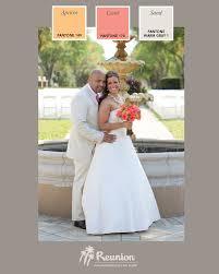 wedding color palette orange pink u0026 light grey reunion resort