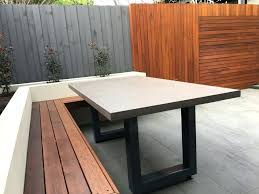 outdoor table tennis dining table concrete outdoor table home x inch polished concrete outdoor dining