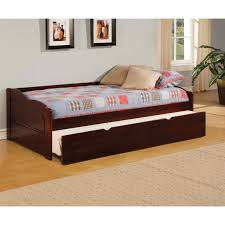 wooden daybed with trundle honey finish in fun trundle home