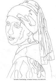 the with pearl earring template google search famous