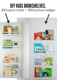 Diy Wall Bookshelves How To Use Ikea Spice Racks For Books Or The Easiest Diy Wall