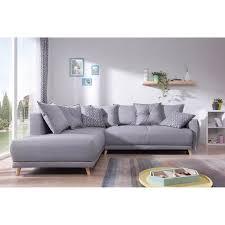 canapé nordique lena canapé scandinave d angle gauche gris clair 236x90x190cm
