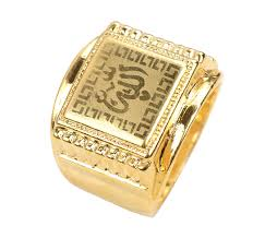 aliexpress buy fashion big size 18k gold plated men fashion big size 18k gold plated men s rings muslim allah ring