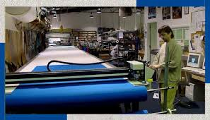 Commercial Fabric Cutting Table Wm J Mills U0026 Co Awnings Boston Whaler And Custom Canvas