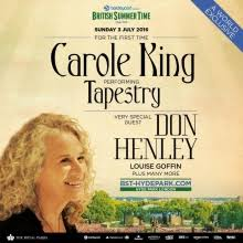 carole king performed tapestry in hyde park 3 july 2016 update