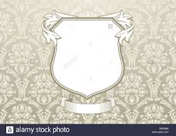 baroque ornamentation with shield stock vector illustration