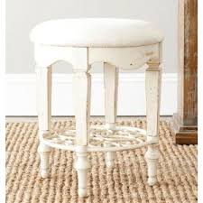 Antique White Makeup Vanity Hillsdale Furniture Sophia Aqua Blue Fabric Vanity Stool 51008