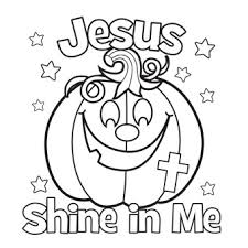 hallowen coloring pages jesus shine in me coloring picture for halloween church