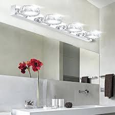 bathroom crystal light fixtures crystal bathroom light fixtures modern led bathroom make up crystal