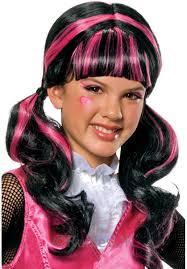 monster high draculaura wig child size halloween wig escapade uk