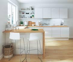 plan de travail bar cuisine cuisine le bois s invite dans la cuisine dans la déco ou l