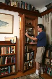 How To Make A Secret Bookcase Door Weekend Project How To Build A Hidden Pivot Bookcase