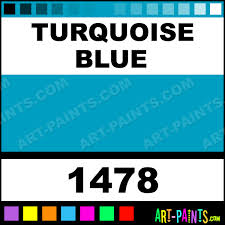 turquoise blue glossy acrylic paints 1478 turquoise blue paint