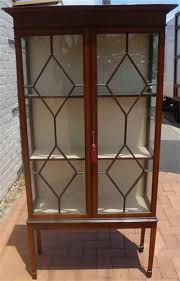 Mahogany Display Cabinets With Glass Doors by Georges Furniture Restoration Display Cabinets