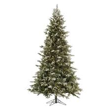 7 5 pre lit artificial tree frosted balsam fir clear