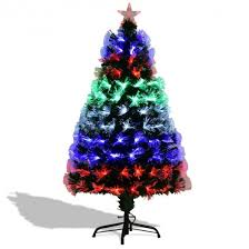 artificial christmas trees multi colored lights 4 5 6 7 fiber artificial christmas tree w multi color