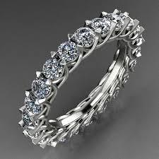 3mm diamond 3d printable model eternity 3mm diamond ring with 2