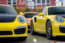 Porsche 911 Yellow - photo of the day double yellow porsche 911 turbo s gtspirit
