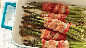 bacon wrapped asparagus bundles recipe rachael food network