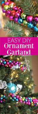 easy diy ornament garland without answers