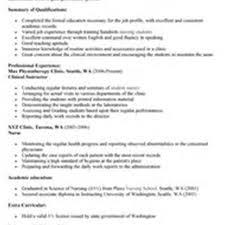 Sample Resume For Nursing Graduate by Nursing Resume Online