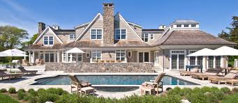 westhampton beach shingle style home poolside swimming pools
