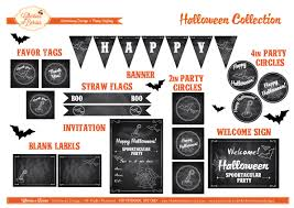 free retro chalkboard halloween printables from cherries n