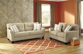 2 piece living room set signature design by ashley laryn khaki 2 piece living room set