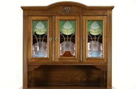 sold oak scandinavian 1910 antique sideboard u0026 china cabinet