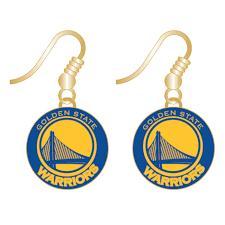 dangler earrings golden state warriors primary logo dangler earrings gold