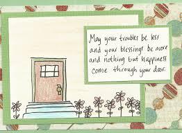 debbie dots greeting card new home door